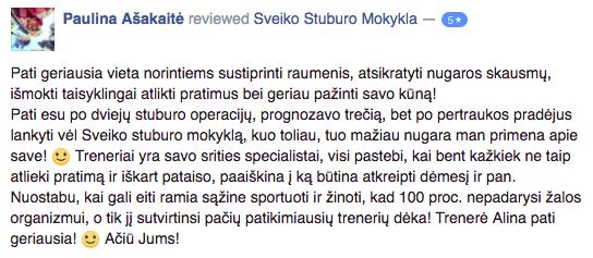Atsiliepimai | Sveiko Stuburo Mokykla